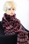 Diamond-Knit Chinchilla REX Scarf