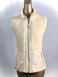 White Mink Knitted Vest With Nylon Zipper Clouser