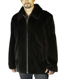 Natural Ranch Mink Jacket with Adjustable Collar