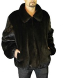 Natural-Full-Skin American Raccoon Jacket Reversible to Italian Nappa Lamb