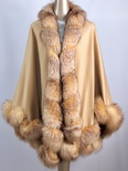 100 % Camel Cashmere With Crystal Fox Twril Trim