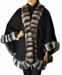Cashmere Cape with Natural Blue Label Chinchilla B/L 32""