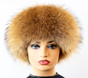 Mahogany Mink Crown Hat with Finnish Raccoon Trim