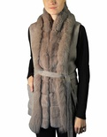 Wool Vest with Rand Fox Tuxedo