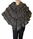 Natural Blue Iris Mink Shawl B/L 17""