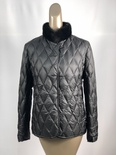 Black Plucked Mink Puffer jacket Reversable to Black Quilt nylon