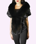 Natural Black Mink with Fox B/L 14""